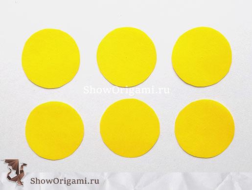 6 желтых кругов